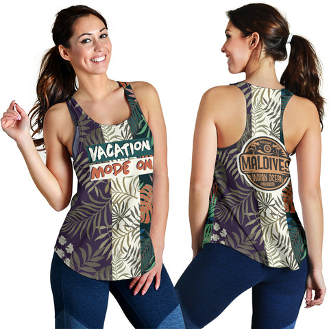 Vacation mode on - Maldives Women's Racerback Tank - MRH