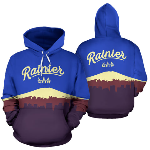 Mount Rainier All Over Print Hoodie - MRE