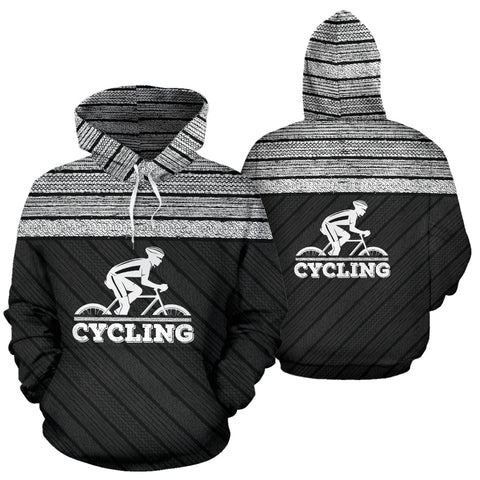 Cycling Tire Tracks All Over Hoodie - MRP