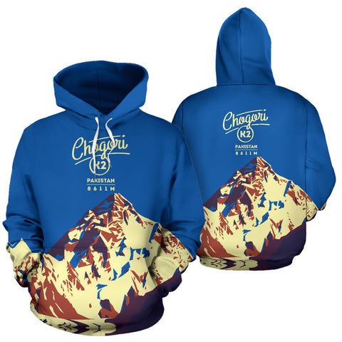 Image of Chogori K2 Mountain All Over Print Hoodie - MRE