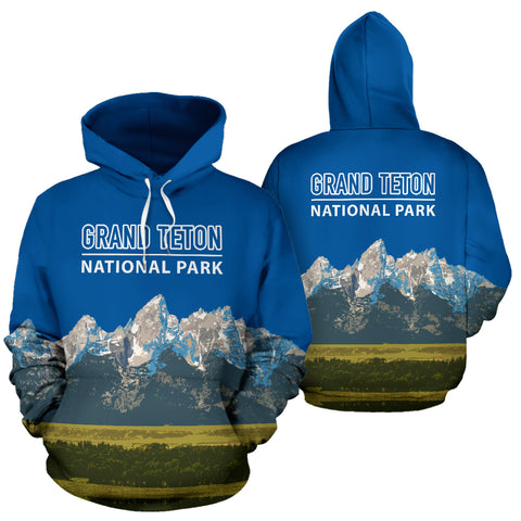 The Granite Peaks Of Grand Teton National Park Hoodie - MRP