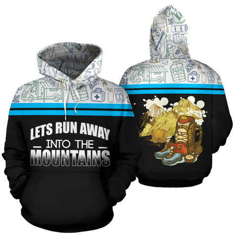 Let Run Away Into The Mountain | Mountain Roar All Over Print Hoodie MRE