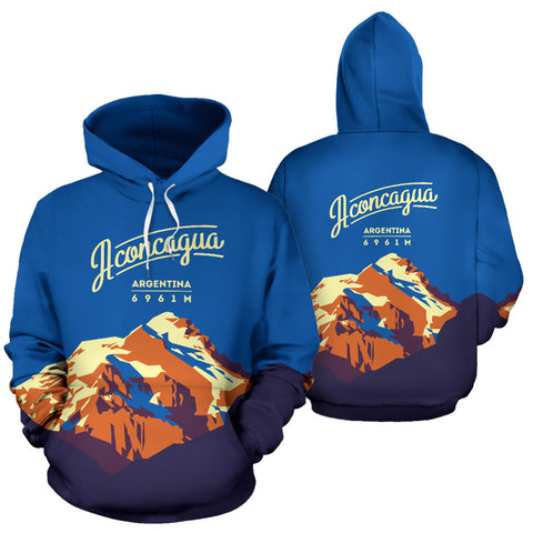 Image of Aconcagua Mountain All Over Print Hoodie - MRE
