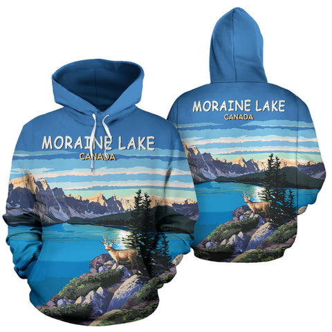 Moraine Lake All Over Print Hoodie - MRH