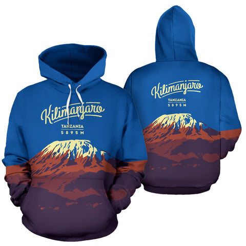 Kilimanjaro Mountain Trekking All Over Print Hoodie - MRE