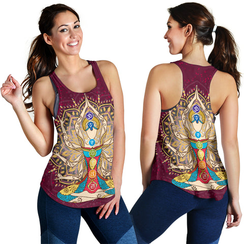 Ornament Geometric Meditation Chakra Women Tank 03 - MRP