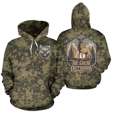 Deer Hunting - The Great Outdoor Camouflage All Over Print Hoodie - MRP