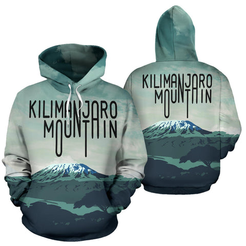 Kilimanjaro Typography All Over Print Hoodie - MRE