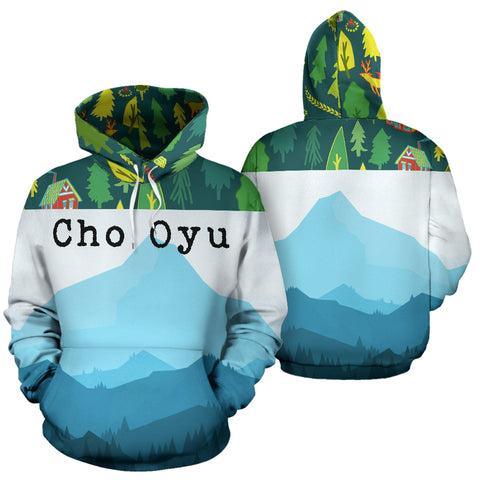 Cho Oyu Mountain | Mountain Roar All Over Print Hoodies MRJ