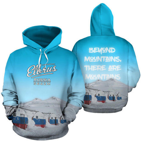 Image of Russia Elbrus Mountain All Over Print Hoodie - MRE