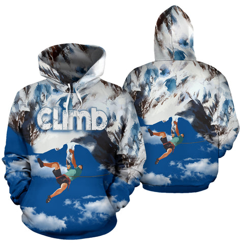 Stunning Climbing All Over Print Hoodie - MRP
