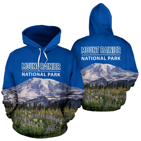 Mount Rainier National Park All Over Print Hoodie - MRE