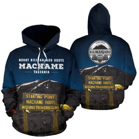Machame Route Mount Kilimanjaro All Over Print Hoodie - MRE