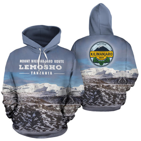 Image of Lemosho Route Mount Kilimanjaro All Over Print Hoodie - MRE