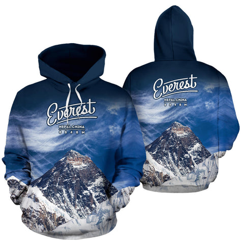 Stunning Mount Everest All Over Print Hoodie - MRP
