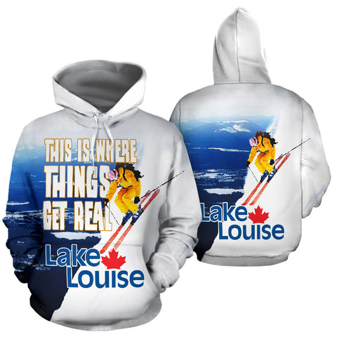 Lake Louise Canada Skiing All Over Print Hoodie - MRE
