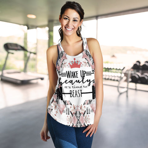 Wake up Beauty Racerback Tank - MRH