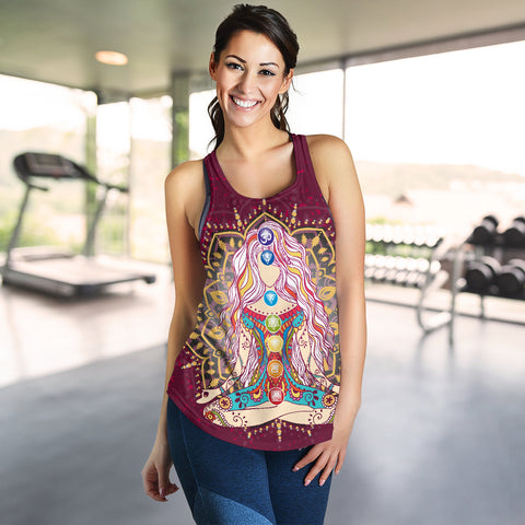 Ornament Geometric Meditation Chakra Women Tank - MRP