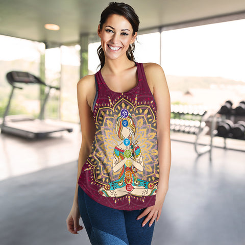 Ornament Geometric Meditation Chakra Women Tank 02 - MRP