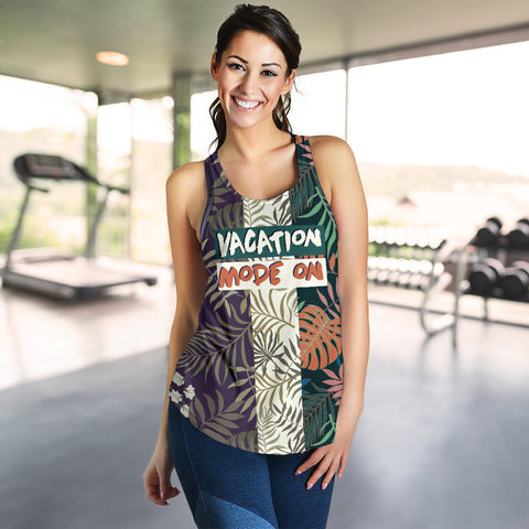 Image of Vacation mode on - Maldives Women's Racerback Tank - MRH