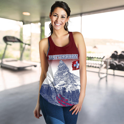 Image of Zermatt Matterhorn The Beauty Of Zermatt Switzerland  Racerback Tank - MRPT