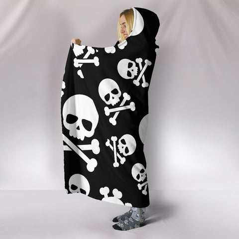 Skull Crossbones Hooded Blanket - MRP
