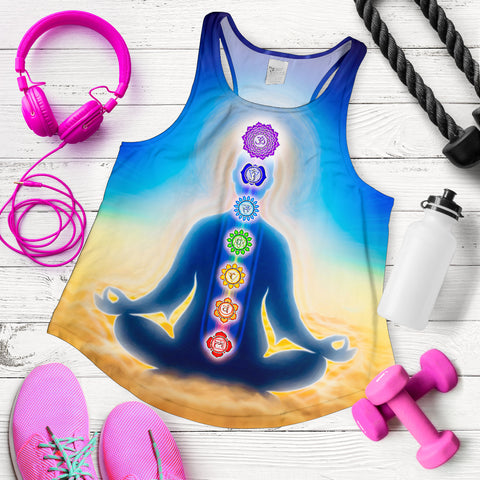 Image of Colorful Meditation Chakra Women's Racerback Tank - MRP