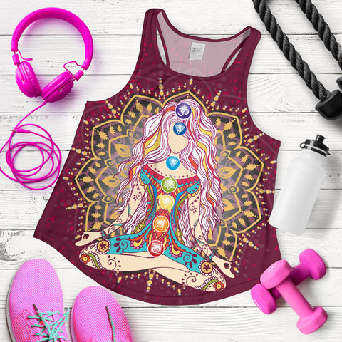 Image of Ornament Geometric Meditation Chakra Women Tank - MRP
