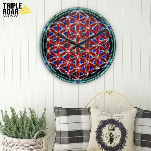 Sacred Geometry Wall Clock - Flower Of Life - Source Of Spirit - MRP