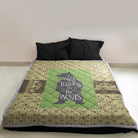 Wild Things In The Woods Hunting Quilt | Custom Quilts Design by Mountain Roar - MRF