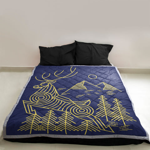 Image of Moose Hunting Quilt | Custom Quilts Design by Mountain Roar - MRF