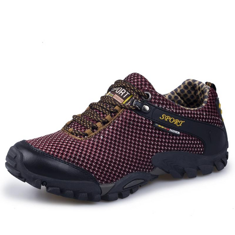 Mountain Roar Trail Hiking Shoes 12 Burgundy Left