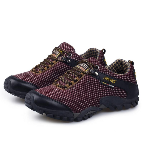 Mountain Roar Trail Hiking Shoes 12 Burgundy Overal