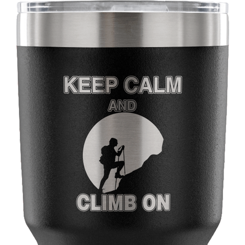 Mountain Roar Vacuum Insulated Tumblers 30 OZ Keep Calm And Climb On 01 black zoom