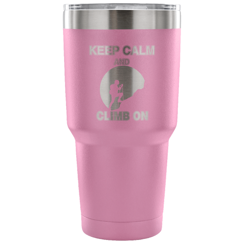 Image of Mountain Roar Vacuum Insulated Tumblers 30 OZ Keep Calm And Climb On 01 light purple