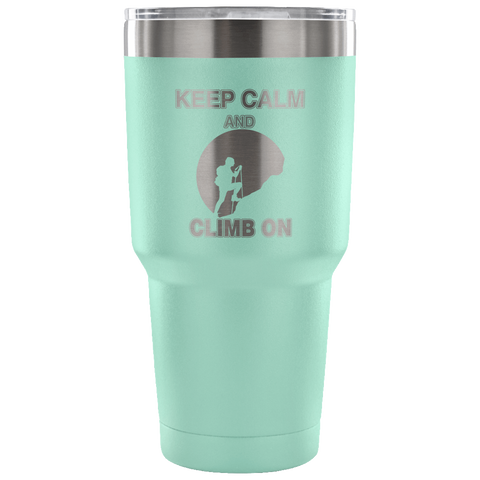 Mountain Roar Vacuum Insulated Tumblers 30 OZ Keep Calm And Climb On 01 teal