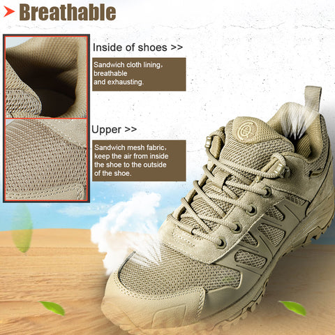 Trekking Men Sneakers Non-slip Shoes Military Boots for Camping Hiking | Mountain Roar Trail Hiking Shoes Mens - MRF