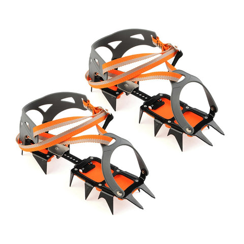14-point Manganese Steel Climbing Crampons Ice Grippers Crampon Ice Walking | Mountain Roar Crampons - MRF