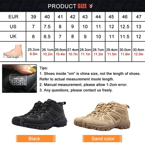 Hiking Shoes Outdoor Shoes Trekking Sneakers Men Hunting Boots | Mountain Roar Trail Hiking Shoes Mens - MRF