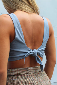 Blue Little Silk Top