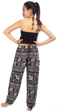 Load image into Gallery viewer, Elephants 3 Black Dashiki Pant