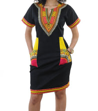 Load image into Gallery viewer, Blackyellow Dashiki Dress
