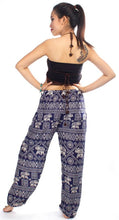 Load image into Gallery viewer, Elephants 3 Dark Blue Dashiki Pant