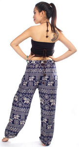 Elephants 3 Dark Blue Dashiki Pant
