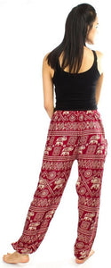 Elephants 3 Burgundy Dashiki Pant