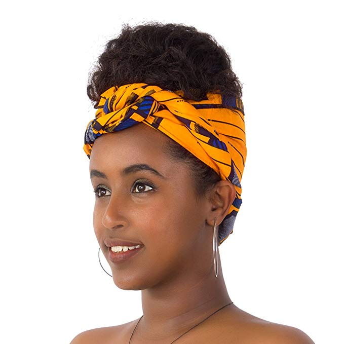 Yellow Dashiki Headwrap