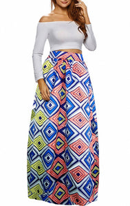 Pattern 2 African Printed Dashiki Skirt