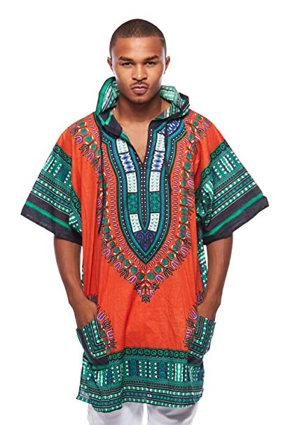 Orange Dashiki Hoodie