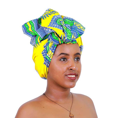 Green Dashiki Headwrap