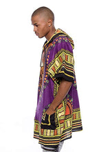 Load image into Gallery viewer, Purple/Back Dashiki Hoodie